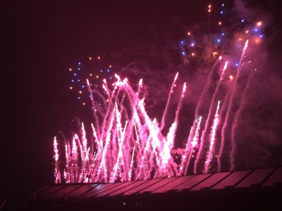 We all agreed that this Fourth of July's fireworks show was the best we've seen in four years.
