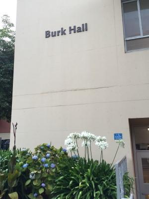 Burk Hall, San Francisco State University, greets me!