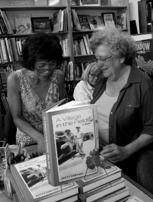 Rhoda and me in B&W (photo credit: Robert Milton).