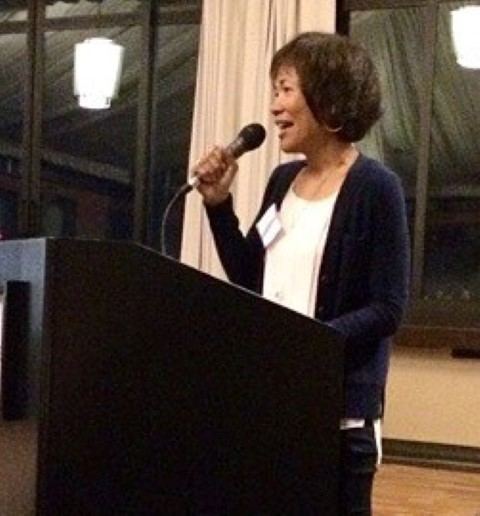 I am added to the schedule at the last minute, speaking before the closing keynote. Before reading an excerpt, I let everyone know how important taking Asian American Studies classes was for me when I was at UC Davis. It literally changed my life. (Photo courtesy of Linda Canlas)
