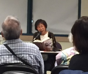 Reading at the Fremont library during Filipino American History Month in October.