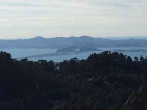 On a clear day, you can see forever - Inspiration Point's view of the bridges, Treasure Island, and the City.