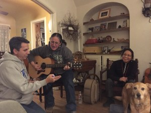 After Christmas, we went down to Porterville for a little visit, and we ended up having an evening of singing with our cousin Debi.