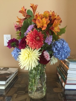Third bouquet of the season for the Korematsu Middle School auction.