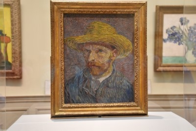 Vincent van Gogh's Self-Portrait with a Straw Hat (oil on canvas), 1887 (photo by David).