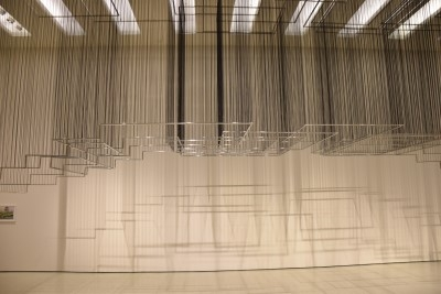 Flying Carpets (stainless steel and rubber), 2011, by Nadia Kaabi-Linke (photo by David).