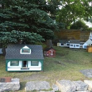 "Part of the ""Mini Village."""