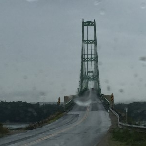 Crossing the bridge on our way out of Stonington.