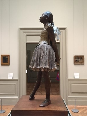 Another view of The Little Fourteen-Year-Old Dancer by Degas (photo by David).