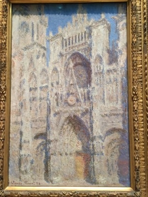 Rouen Cathedral: The Portal (Sunlight) (oil on canvas), 1894, by Claude Monet.