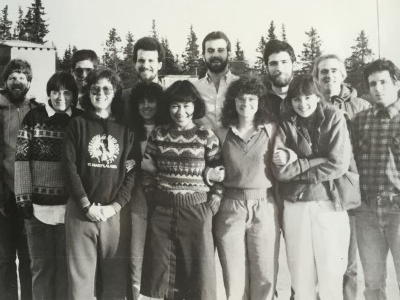 Jesuit Volunteers get ready for the school year at St. Mary's, AK, Fall 1986.