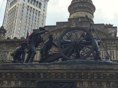 At Short Range bronze statue.