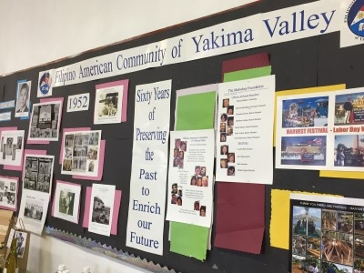 The Filipino Community Hall had a nice display of FACYV achievements through the years.