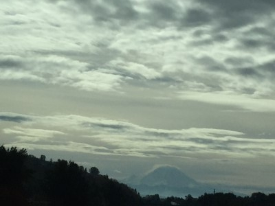Mt. Rainier bids adieu.