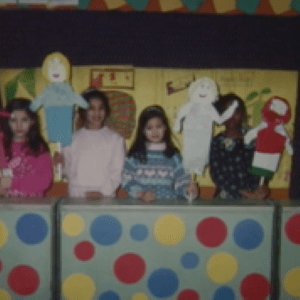 "A photograph of Veena as a second grader in her short film, ""Mrs. Henderson's Kids."""