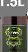 Tesco Green Ginger Wine 1.5L - Case of 6