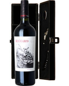 Ben Marco Malbec Single Bottle Wine Gift in Accessories Box