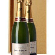 Laurent-Perrier Brut Two Bottle Champagne Gift in Wood 2 x 70cl Bottles
