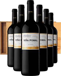 Rioja Crianza Viña Pomal Six Bottle Wine Gift in Wood 6 x 75cl Bottles