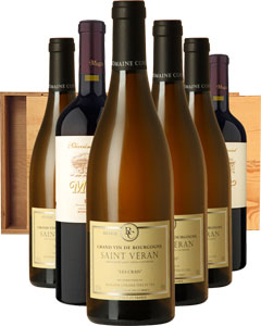 The Fine Wine Six Wine Gift in Wood 6 x 75cl Bottles