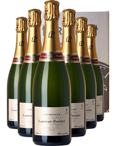 Laurent-Perrier Brut Six Bottle Champagne Gift 6 x 75cl Bottle