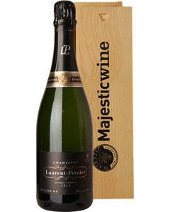 Laurent-Perrier Vintage Single Bottle Champagne Gift in Wood