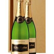 Nicolas Feuillatte Two Bottle Champagne Gift in Wood 2 x 75cl Bottles