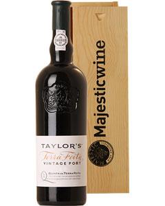 Taylors Quinta De Terra Feita Port Single Bottle Gift in Wood