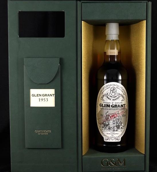 1953 Glen Grant Single 53 Year old Highland Malt Whisky 1953