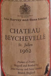 1962 Chateau Beychevelle 1962 St Julien Grand Cru Classe