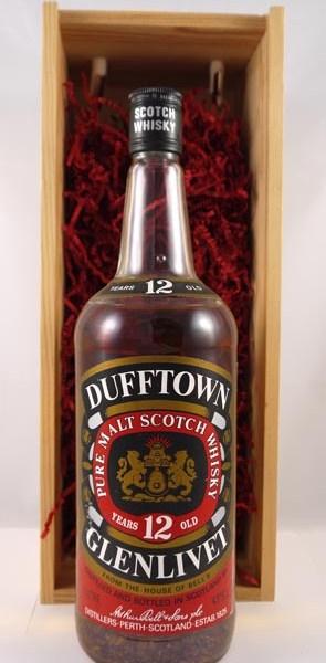 1980's Dufftown Glenlivet 12 Years Old Speyside Single Malt Scotch Whisky Distillery Bottling 100cls
