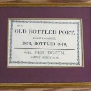 Framed 1872 Gould Campbell Port Advert