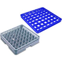 49 Compartment Glass Rack with 3 Extenders