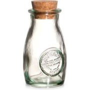 Authentic Recycled Glass Spice Bottle with Cork Lid 3.5oz / 100ml (Single)