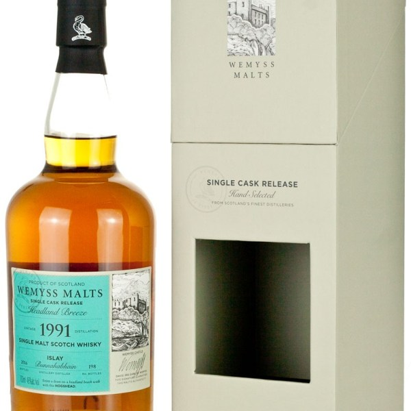 Bunnahabhain 24 Year Old 1991 Headland Breeze Wemyss
