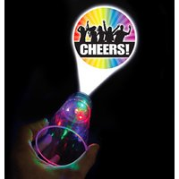'Cheers' Flashing LED Projector Glass 17.5oz / 500ml (Case of 12)