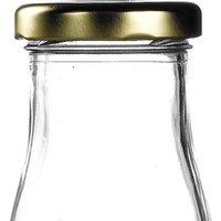 Gold Caps for Mini Milk Bottles (Set of 4)