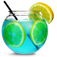 Individual Mini Cocktail Fish Bowl 20oz / 568ml (Pack of 4)