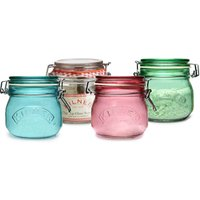 Kilner 4 Piece Round Clip Top Jar Set 0.5ltr