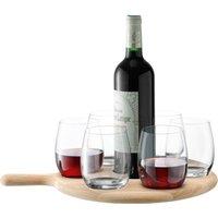 LSA Paddle Water/Wine Serving Set & Oak Paddle