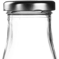 Silver Caps for Mini Milk Bottles (Set of 18)