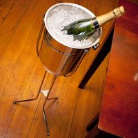 Stainless Steel Champagne Bucket with Folding Stand