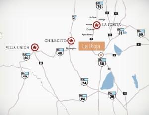 mapa rioja argentina