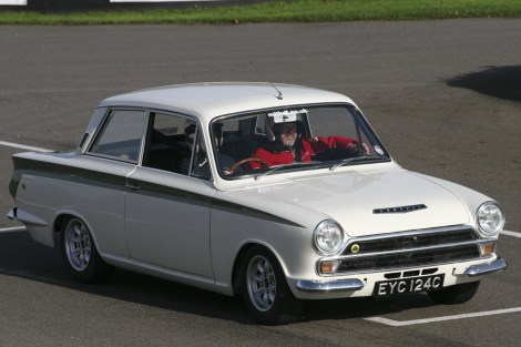 British Classics Track Day - Lotus Cortina on track