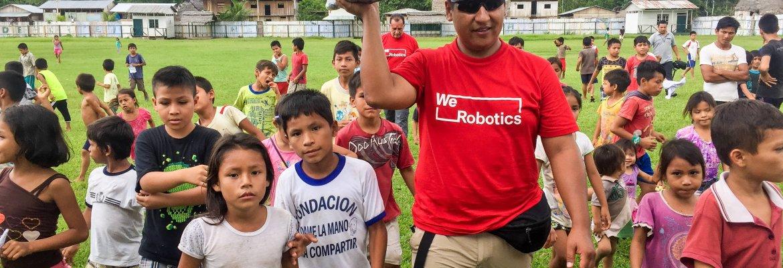 amazon rainforest werobotics drone delivery