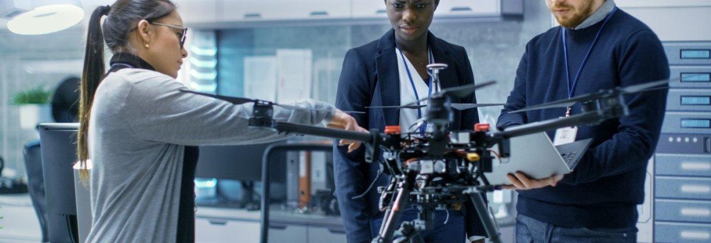 google drone women diverse