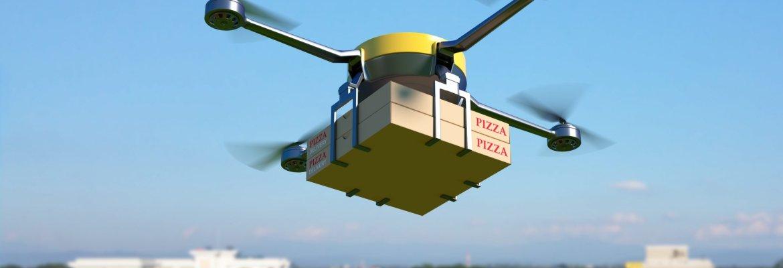 DIY delivery drone pizza food