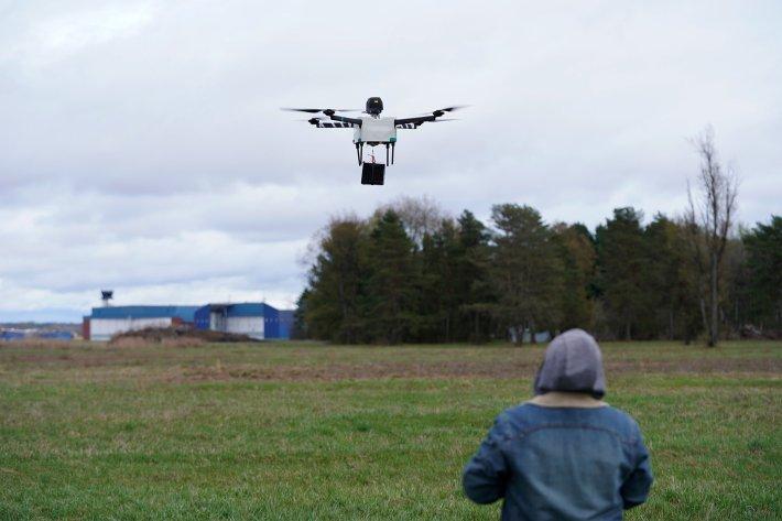 drone parachutes Horsefly Workhorse NUAIR New York
