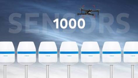 Dedrone sensors Dedrone sensors 1,000 milestone