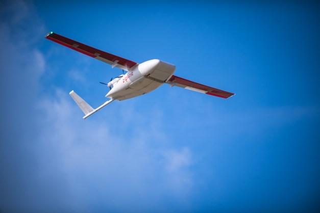 Zipline delivery drone